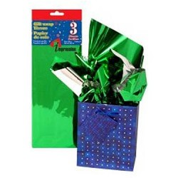 Tissue Paper - METALLIC GREEN ~ 3 per pack