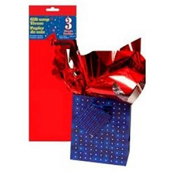 Tissue Paper - METALLIC RED ~ 3 per pack