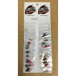 Assorted Trout Wet Flies ~ 24 per card