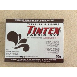 Tintex Fabric Dye 55gr ~ 27 - Dark Brown