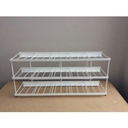 Tintex Fabric Dye Wire Display Rack ~ White - holds 90 boxes