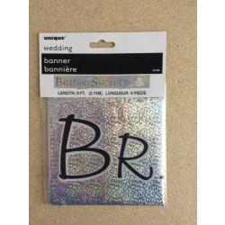 """Foil Prism Banner - 9' ~ """"Bridal Shower"""""""