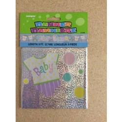 """Foil Prism Banner - 9' ~ """"Baby Shower"""""""