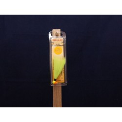 Jig-A-Jo Classique Shad Jigs - 1/8oz ~ Chartreuse & Orange Head / Chartreuse Hair