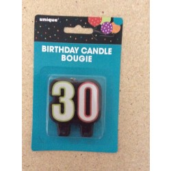 "Birthday Candle ~ Number ""30"""