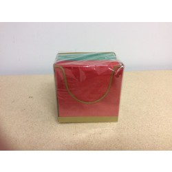 "Red/Green Beverage Size {10""x10""} Napkins - 2 ply ~ w/Holder ~ 100/pk"