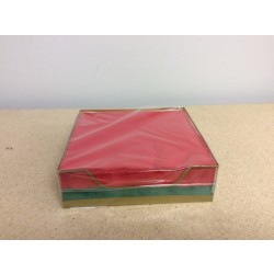 """Red/Green Lunch Size {13""""x13""""} Napkins - 2 ply ~ w/Holder ~ 50/pk"""