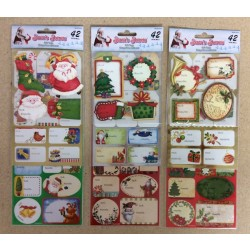 Christmas Assorted Gift Tags ~ 42/pcs