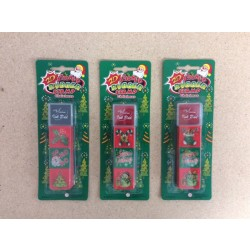 Christmas Stamps & Ink Set ~ 4/pc