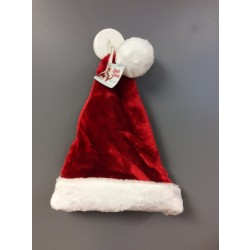 "Christmas Deluxe Plush Santa Hat ~ 17""L"