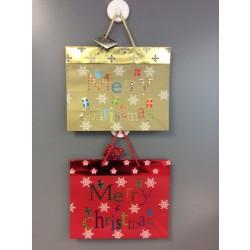 Large Horizontal Christmas Gift Bags w/Merry Christmas
