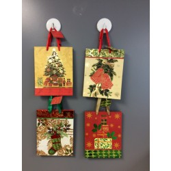 Medium Christmas Gift Bags ~ Assorted Patterns with Matte Finish