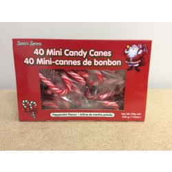 Christmas Mini Candy Canes - Peppermint ~ 40 per box