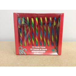 Christmas Candy Canes - Fruit Flavoured ~ 10 per box
