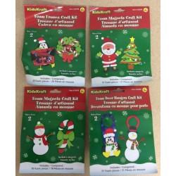 Christmas Foam Craft Kits ~ 6 asst