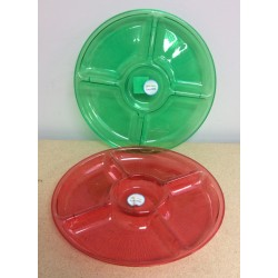 "Plastic 5-Section Dish ~  13"" D"