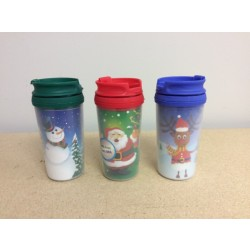 Christmas Kid Size Double Wall Travel Mug w/Lid ~ 10oz
