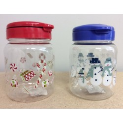 Christmas Snap Lid Containers ~ 2 assorted