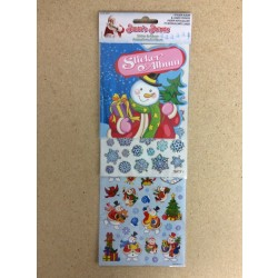 Christmas Laser Stickers w/Album Set