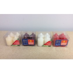 Christmas Taper Top Votive Candles ~ 4/pc