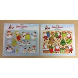 Christmas Large Die-Cut Foil Gift Tag Stickers ~ 11/pcs