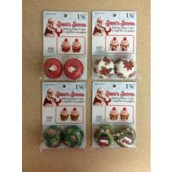 "Christmas Mini Baking Cups 1-5/8"" ~ 100/pk"