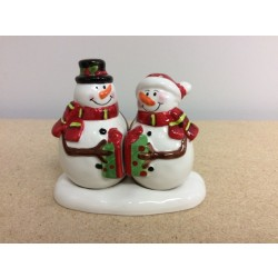 Christmas Snowman Ceramic Salt & Pepper Set