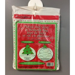 "Plastic Tree Skirt & Removal Bag ~ 72"" x 90"""