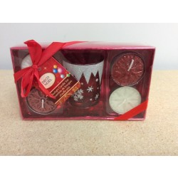 Christmas Tealight Candle Set ~ 5/pc