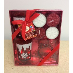 Christmas Tealight Candle Gift Set ~ 7/pc