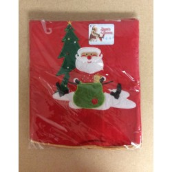 "Tree Skirt w/Embroidered Santa Design ~ 36""D"