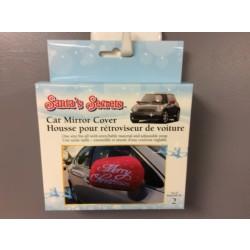 Car Mirror Cover - Merry Christmas ~ 2/pk