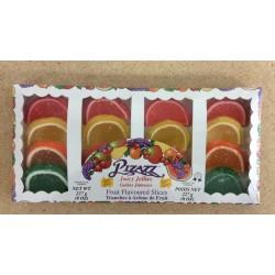 Pizazz Juicy Jeillies - Fruit Flavored Slices ~ 227gr