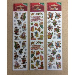 Christmas Woody's Assorted Stickers ~ 3 asst