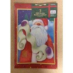 Christmas Gift Boxes ~ 3 per pack