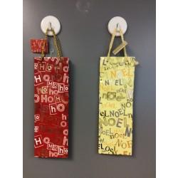 Bottle Christmas Gift Bag ~ Noel & Ho Ho Ho