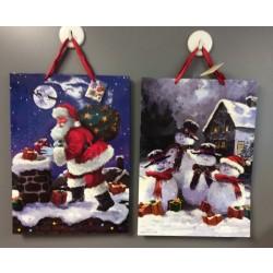 Jumbo Christmas Gift Bags w/Santa or Snowman