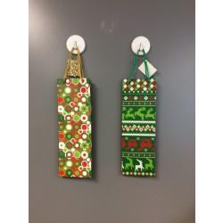 Bottle Christmas Gift Bag ~ Green Assorted