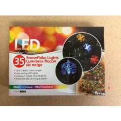 Christmas LED Snowflake Lights ~ 35 Lights