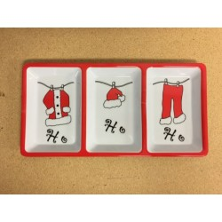Christmas Melamine 3-Section Dish