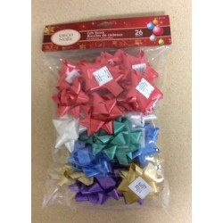 "Christmas 3"" Traditional Star Bows ~ 26 per pack"