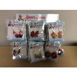 Christmas Flashing Earrings ~ 6 assorted