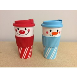 Christmas Double Wall Travel Mug w/Lid ~ 16.5oz