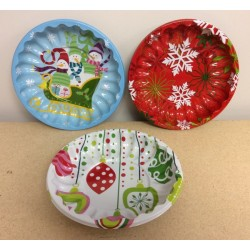 "Plastic Christmas Bowl ~ 9.5""D"