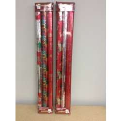 "Christmas Foil Wrapping Paper ~ 3 rolls x 27"" x 60"""