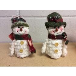 "Christmas Plush Nordic Snowman ~ 5"""