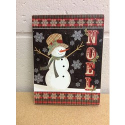 "Christmas Wooden Block Wall Decoration ~ 6.25"" x 8"""