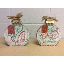 Christmas Wooden Tabletop Decoration ~ 7""