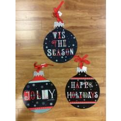 "Christmas Greeting Metal Wall Hanging Decorations ~ 12.5"""