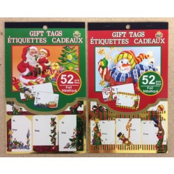 Christmas Foil Gift Tags - Peel N Stick ~ 52/pcs
